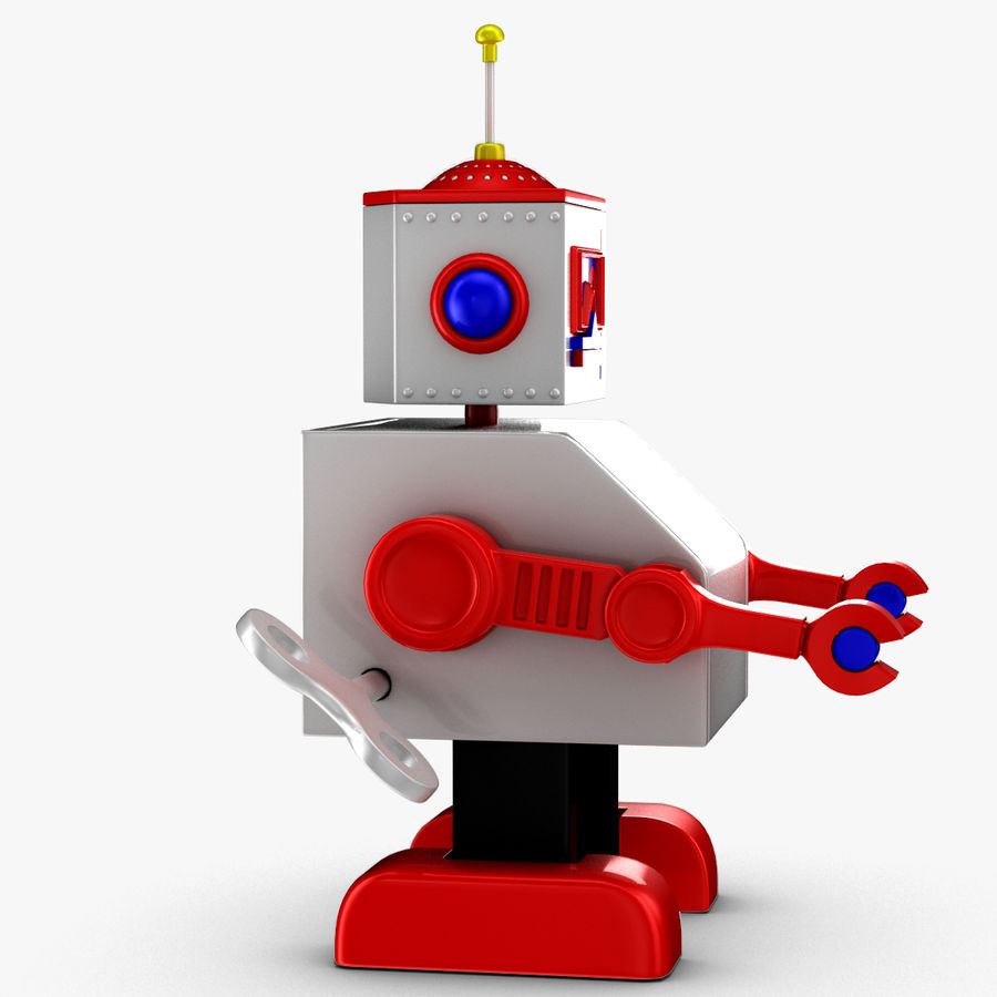 Tolo Toy Robot royalty-free 3d model - Preview no. 10