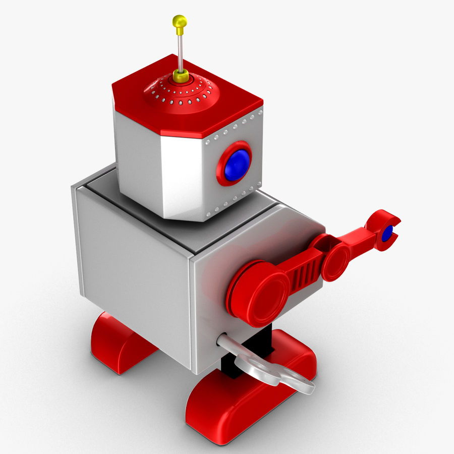 Tolo Toy Robot royalty-free 3d model - Preview no. 5