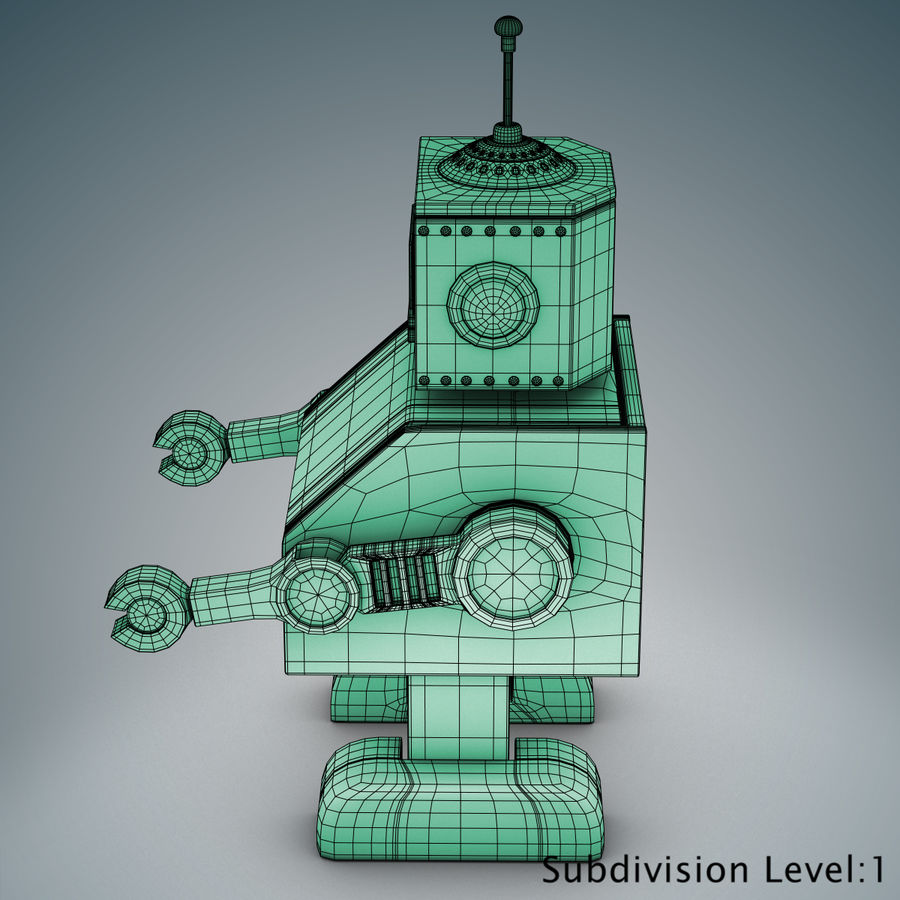 Tolo Spielzeugroboter royalty-free 3d model - Preview no. 21