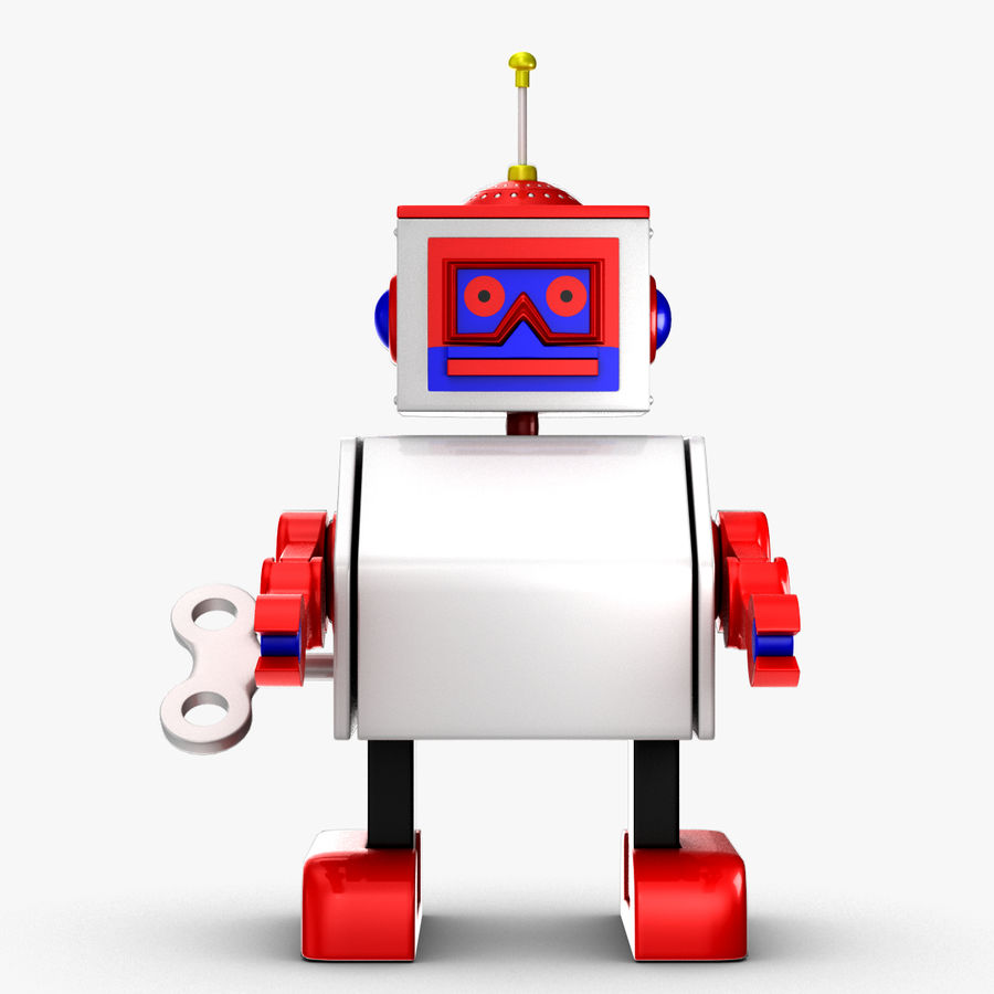 Tolo Toy Robot royalty-free 3d model - Preview no. 4