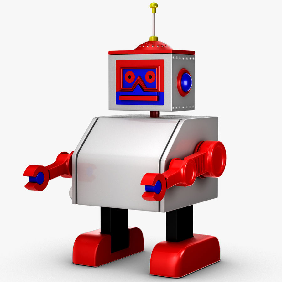 Tolo Toy Robot royalty-free 3d model - Preview no. 6