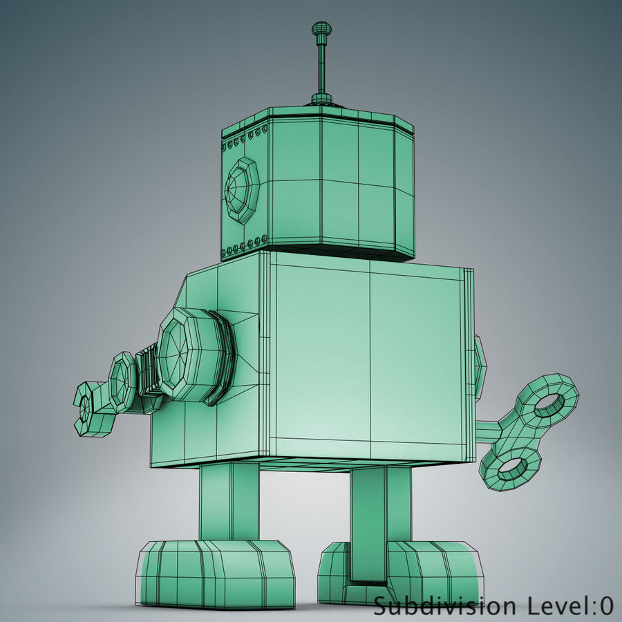 Tolo Toy Robot royalty-free 3d model - Preview no. 17