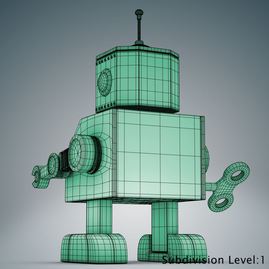 Tolo Spielzeugroboter royalty-free 3d model - Preview no. 23