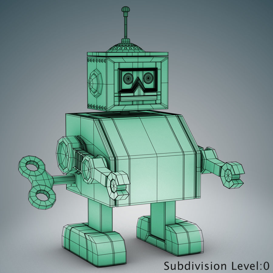 Tolo Toy Robot royalty-free 3d model - Preview no. 13