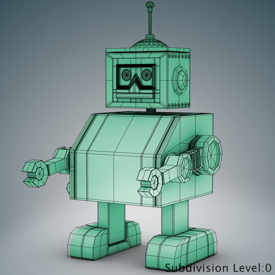 Tolo Toy Robot royalty-free 3d model - Preview no. 12