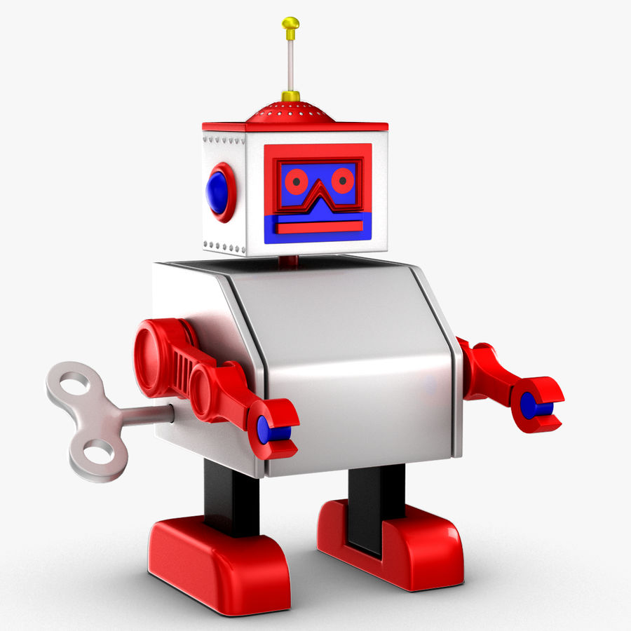 Tolo Toy Robot royalty-free 3d model - Preview no. 3