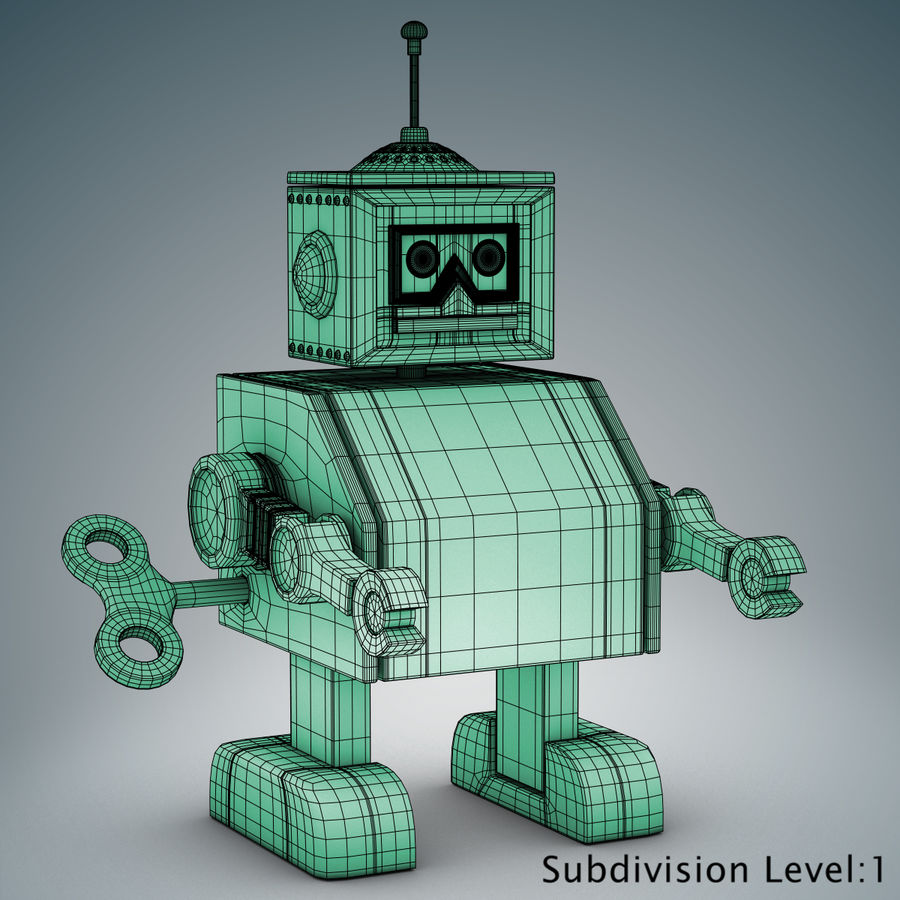 Tolo Toy Robot royalty-free 3d model - Preview no. 19
