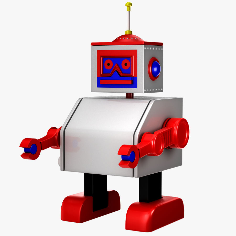 Tolo Toy Robot royalty-free 3d model - Preview no. 1