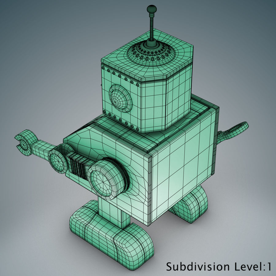 Tolo Spielzeugroboter royalty-free 3d model - Preview no. 20