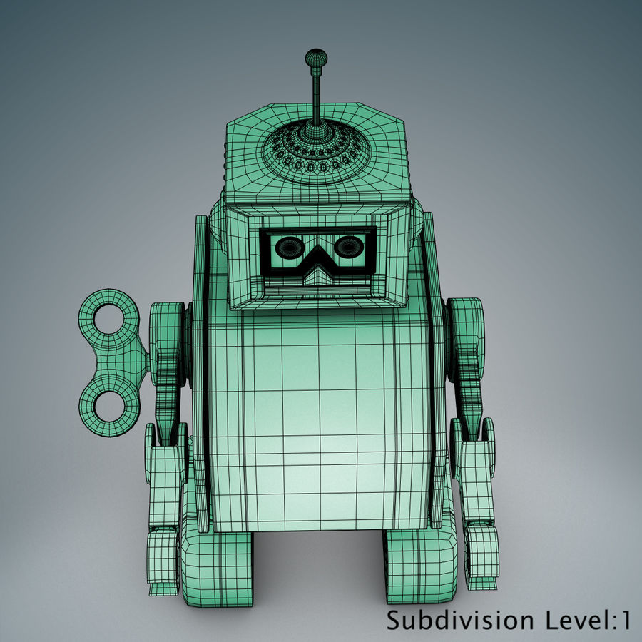 Tolo Toy Robot royalty-free 3d model - Preview no. 22