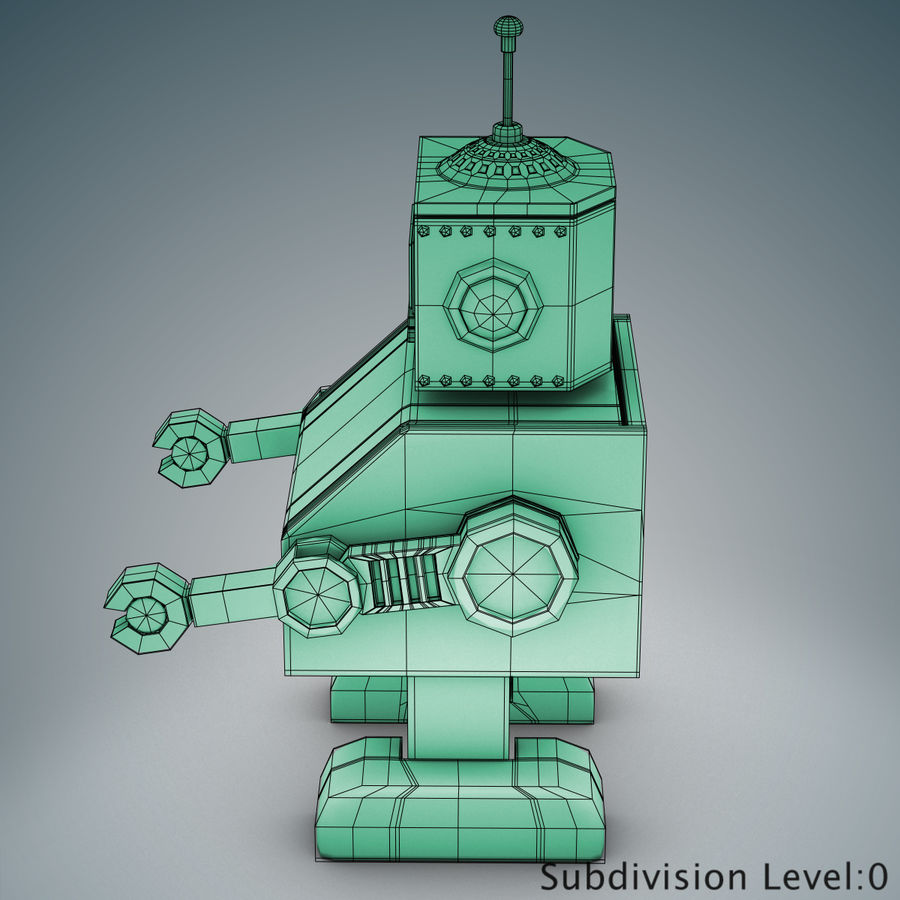 Tolo Toy Robot royalty-free 3d model - Preview no. 15