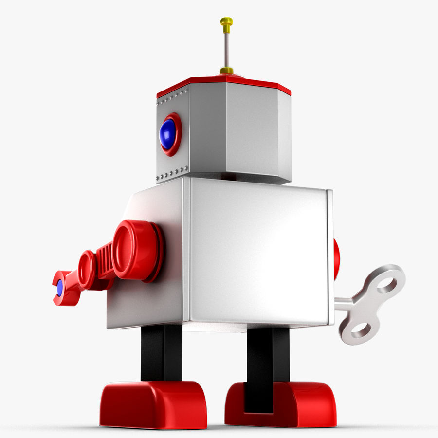 Tolo Toy Robot royalty-free 3d model - Preview no. 11