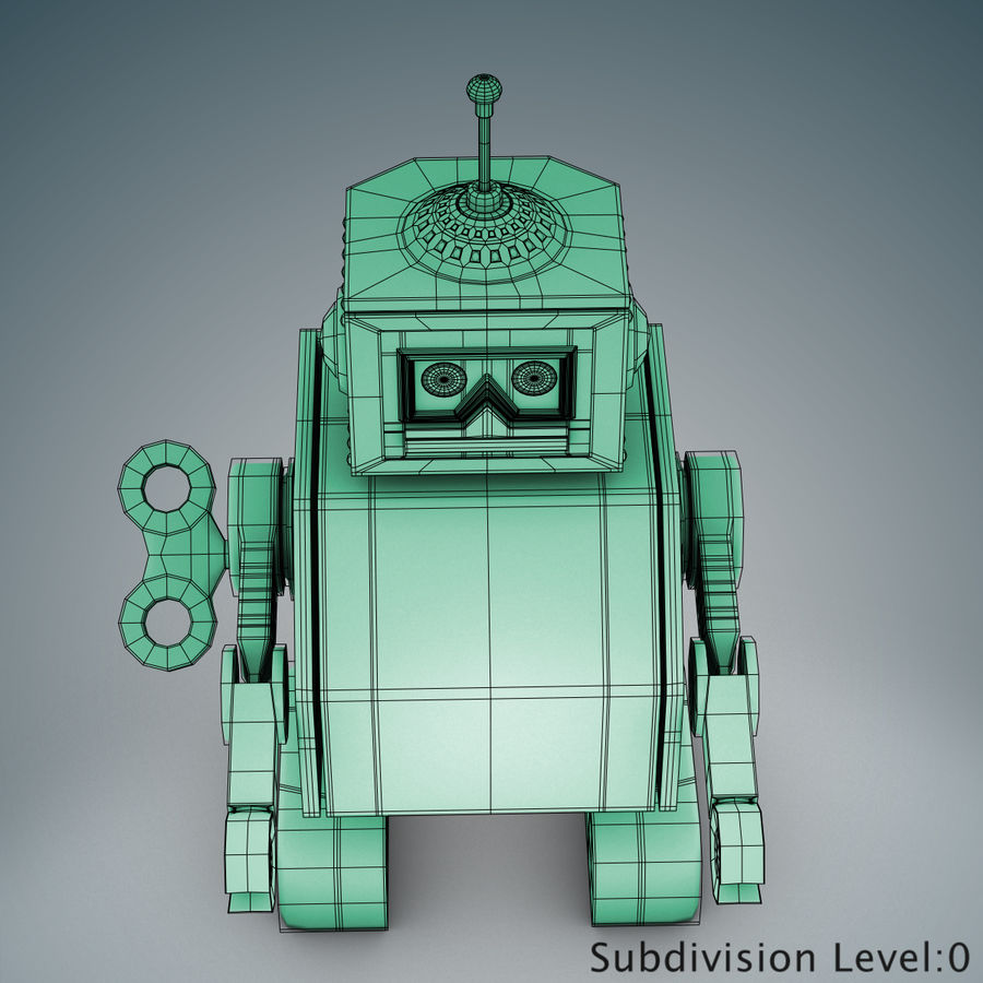 Tolo Spielzeugroboter royalty-free 3d model - Preview no. 16