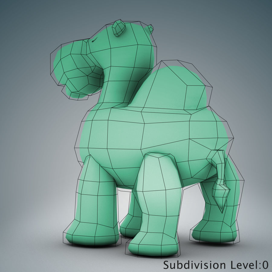 Tolo Toys camel royalty-free 3d model - Preview no. 15