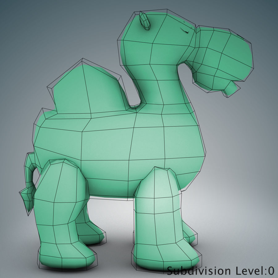 Tolo Toys camel royalty-free 3d model - Preview no. 13