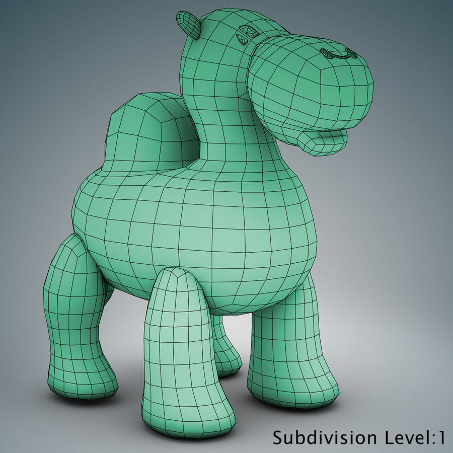 Tolo Toys camel royalty-free 3d model - Preview no. 20