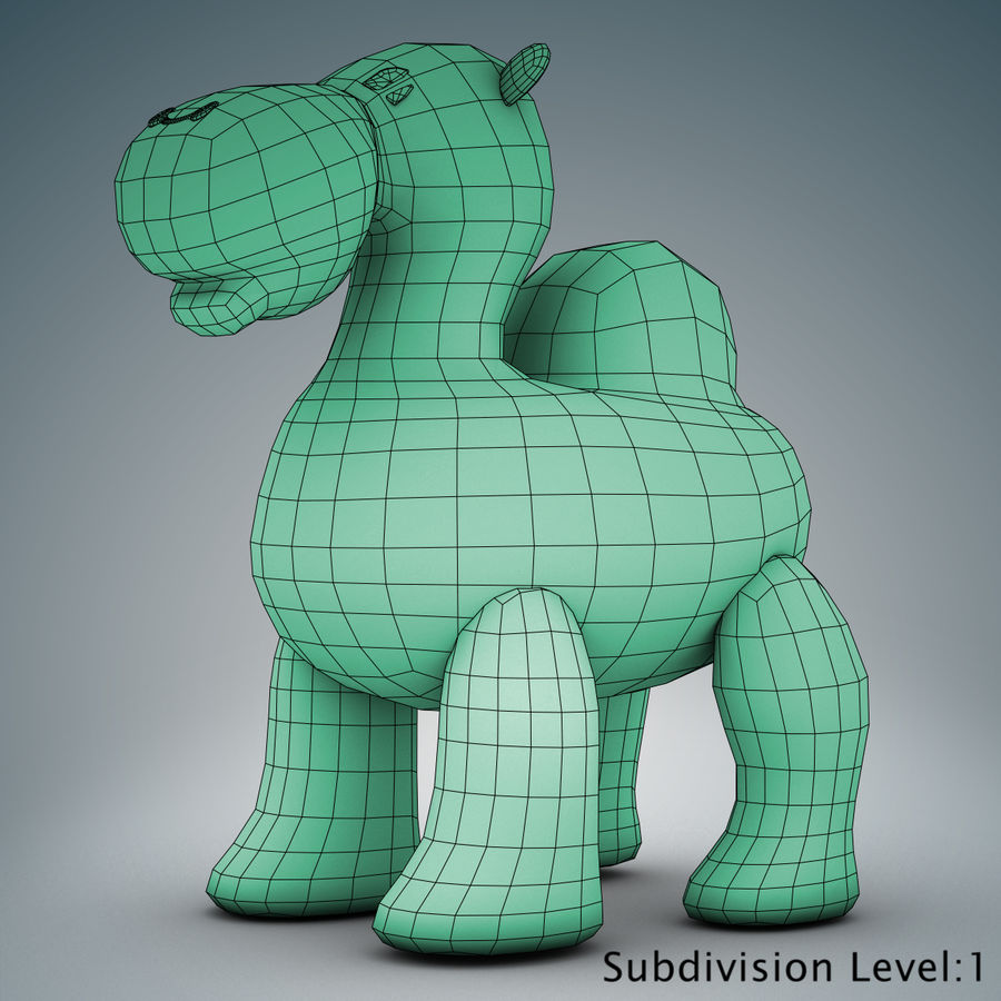 Tolo Toys camel royalty-free 3d model - Preview no. 18