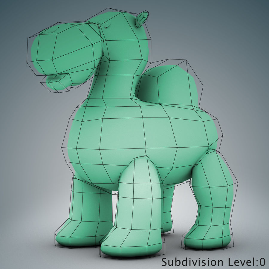 Tolo Toys camel royalty-free 3d model - Preview no. 17