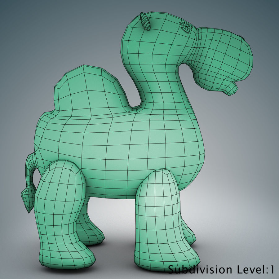 Tolo Toys camel royalty-free 3d model - Preview no. 14