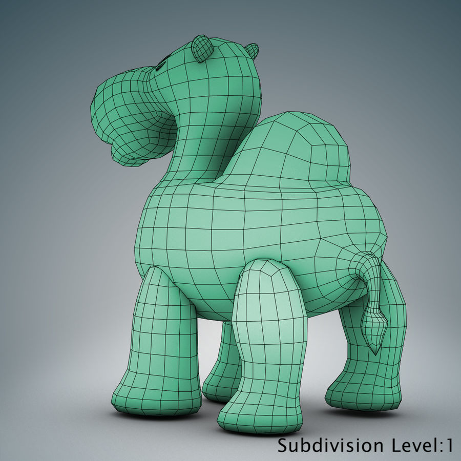 Tolo Toys camel royalty-free 3d model - Preview no. 16