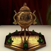 Censeur chinois en bronze 3d model