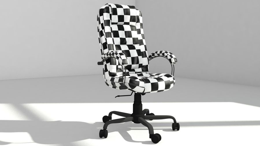 computer chair royalty-free 3d model - Preview no. 13