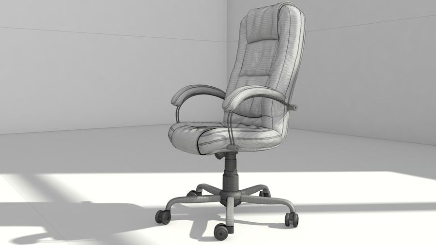 computer chair royalty-free 3d model - Preview no. 11