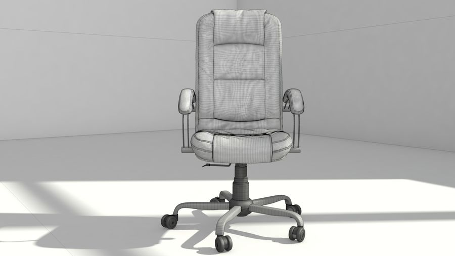 computer chair royalty-free 3d model - Preview no. 12