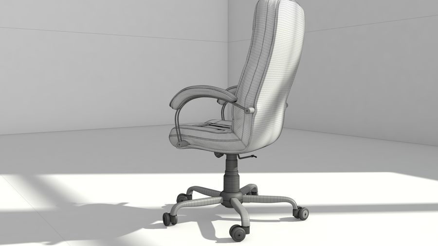 computer chair royalty-free 3d model - Preview no. 10