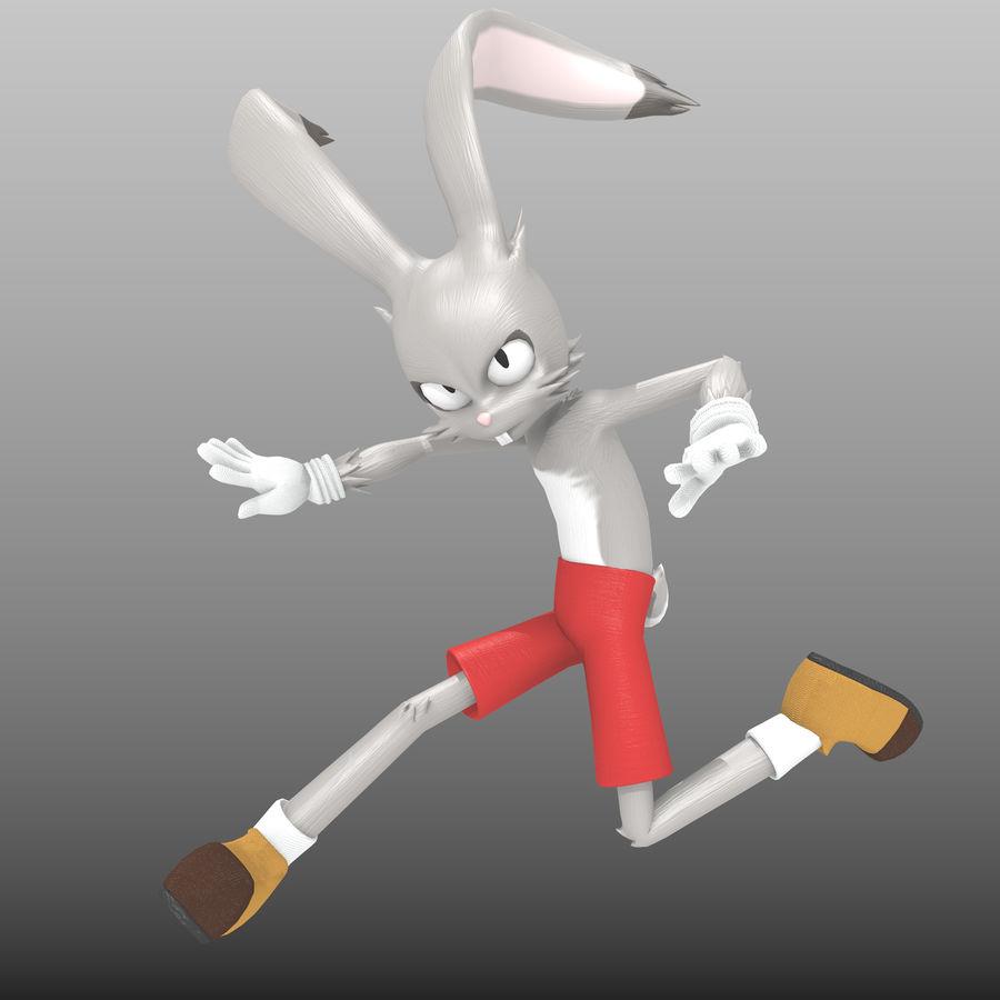 RoyRabbit - Cartoon Animal Character royalty-free 3d model - Preview no. 1