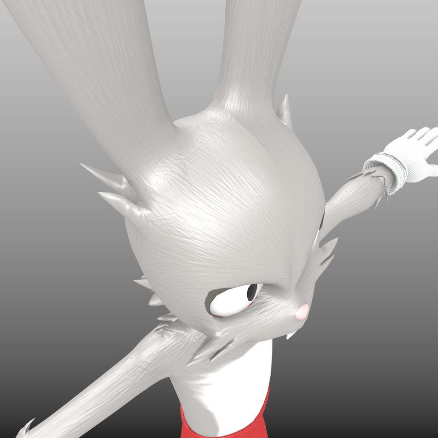 RoyRabbit - Cartoon Animal Character royalty-free 3d model - Preview no. 8