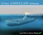 Submarine Gato / Balao Class 3d model