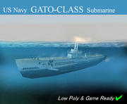 潜艇加托/ Bal佬族 3d model