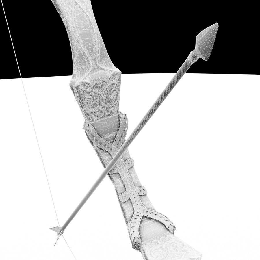 Elegant pil och båge royalty-free 3d model - Preview no. 5