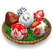 Ovos de Páscoa húngaros 3d model