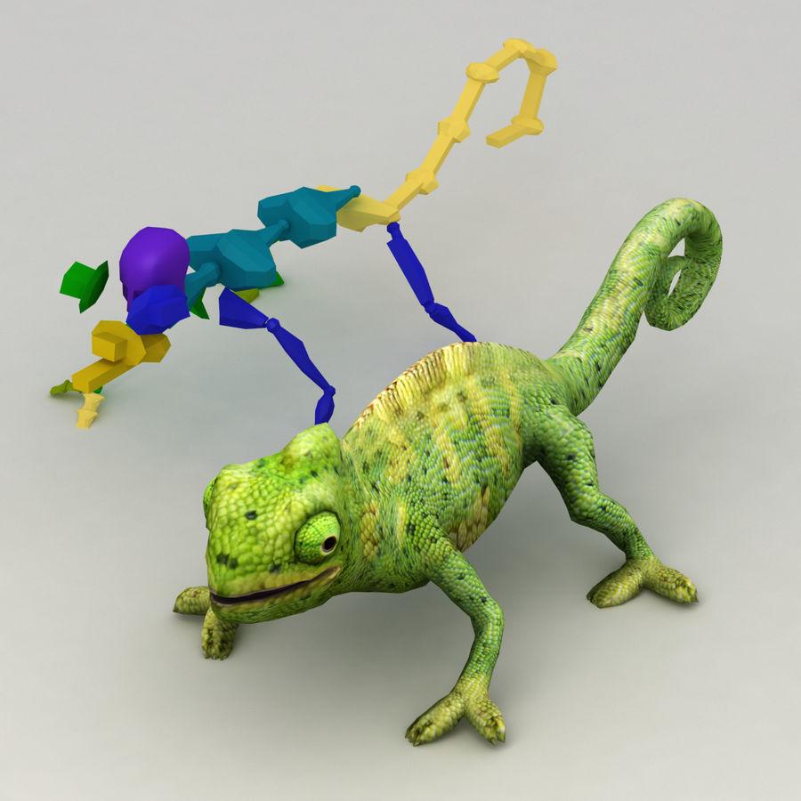 Bukalemun animasyonlu modeli royalty-free 3d model - Preview no. 7