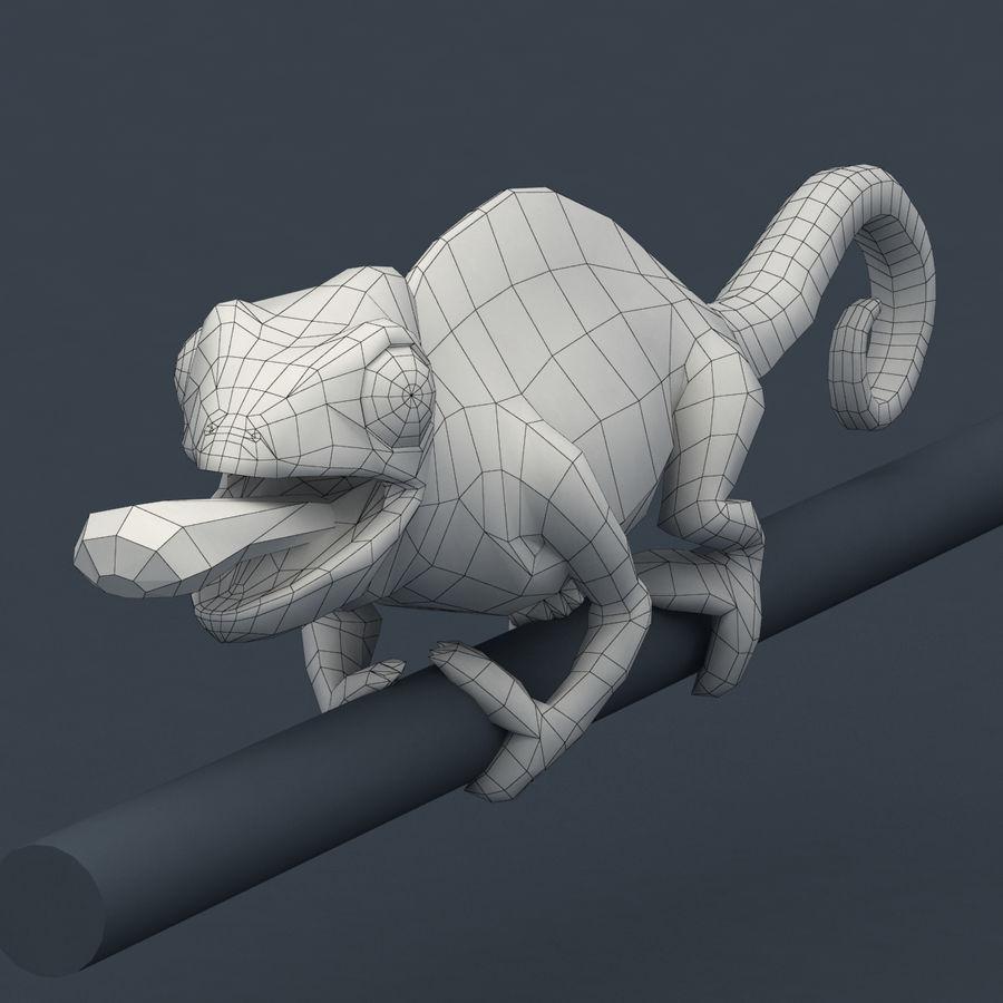 Bukalemun animasyonlu modeli royalty-free 3d model - Preview no. 11