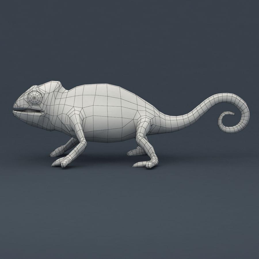 Bukalemun animasyonlu modeli royalty-free 3d model - Preview no. 10