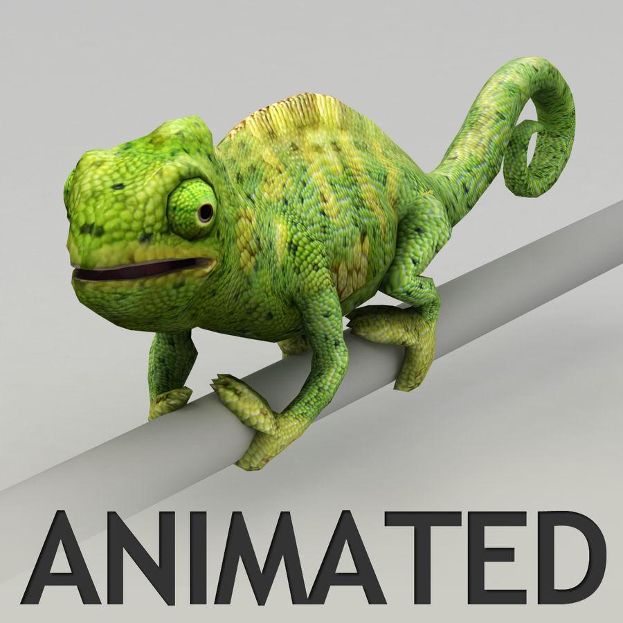 Bukalemun animasyonlu modeli royalty-free 3d model - Preview no. 1