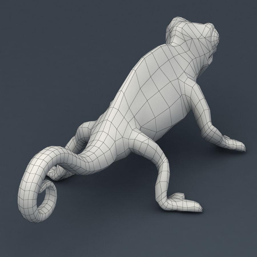 Bukalemun animasyonlu modeli royalty-free 3d model - Preview no. 9