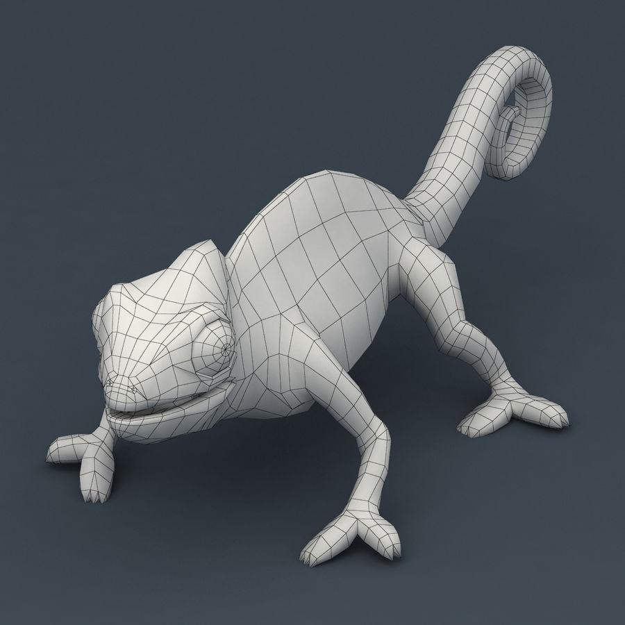 Bukalemun animasyonlu modeli royalty-free 3d model - Preview no. 8