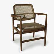 세기 중반 안락 의자 3d model