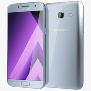 Samsung Galaxy A5 Blue Mist 2017 3d model