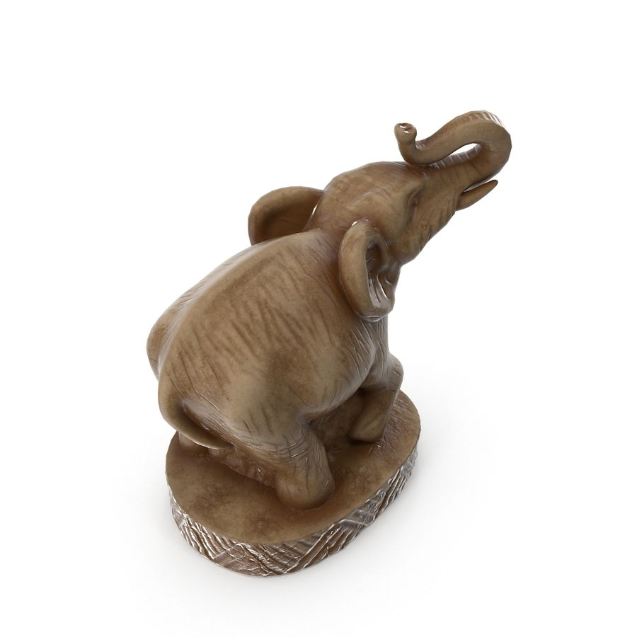 Elephant Statuette royalty-free 3d model - Preview no. 5