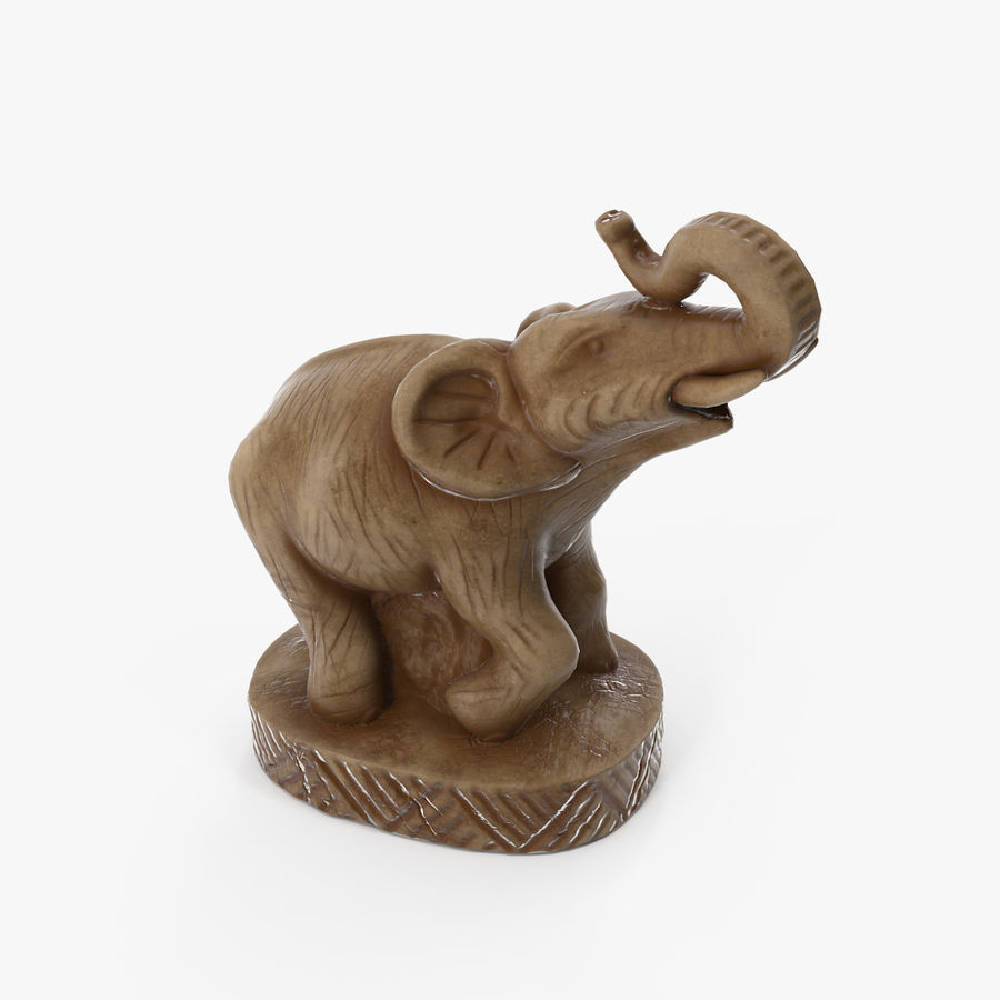 Elephant Statuette royalty-free 3d model - Preview no. 1