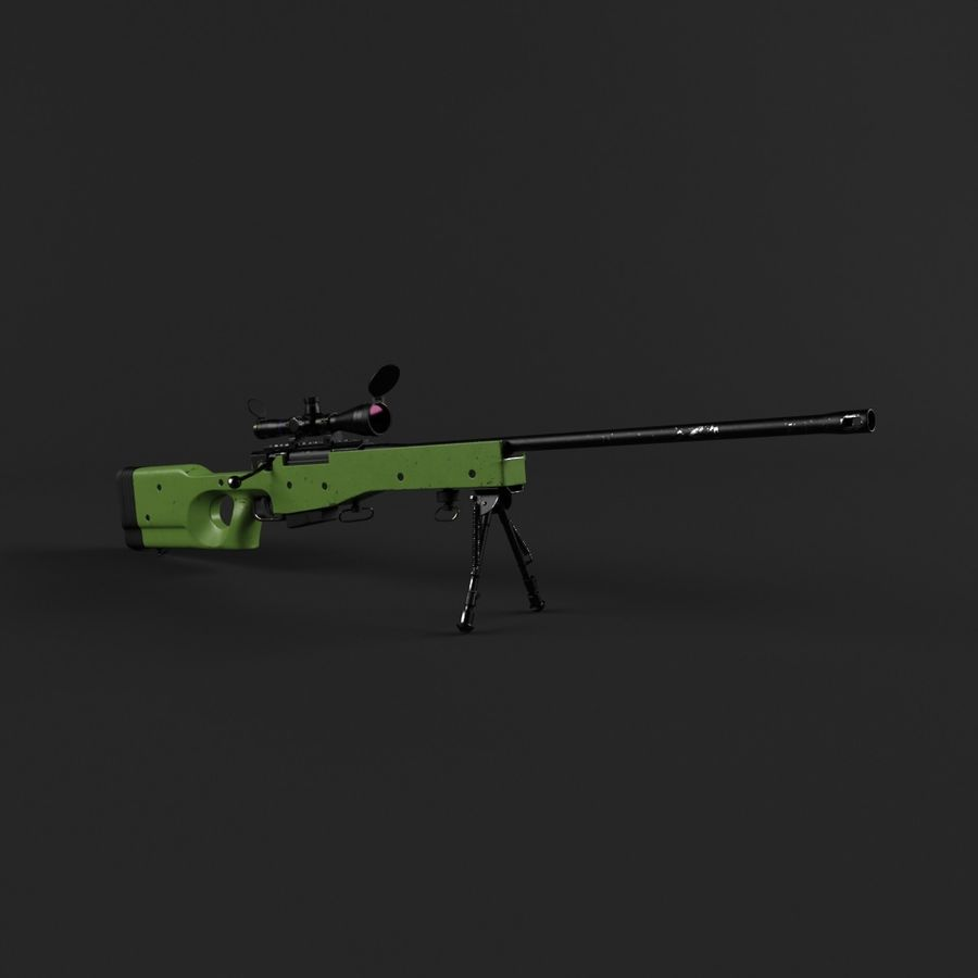 Sniper Rifle L96 British royalty-free 3d model - Preview no. 10