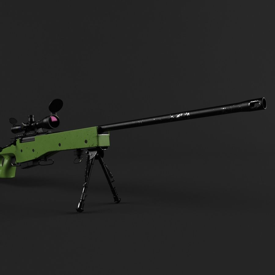 Sniper Rifle L96 British royalty-free 3d model - Preview no. 5