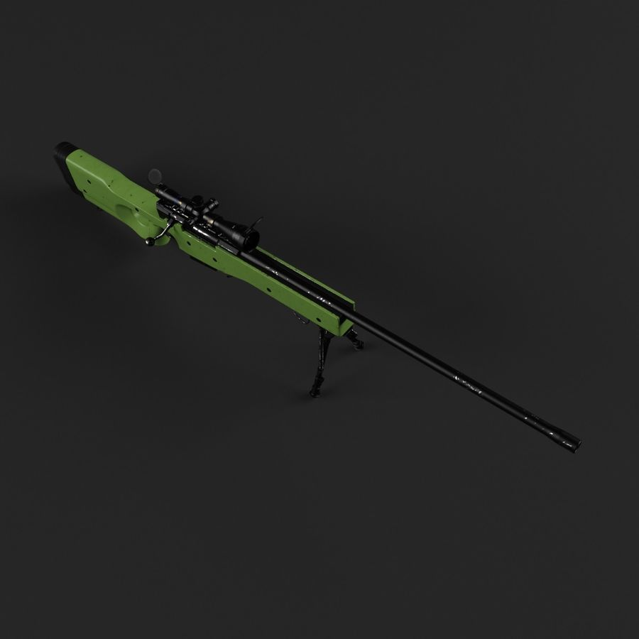 Sniper Rifle L96 British royalty-free 3d model - Preview no. 11