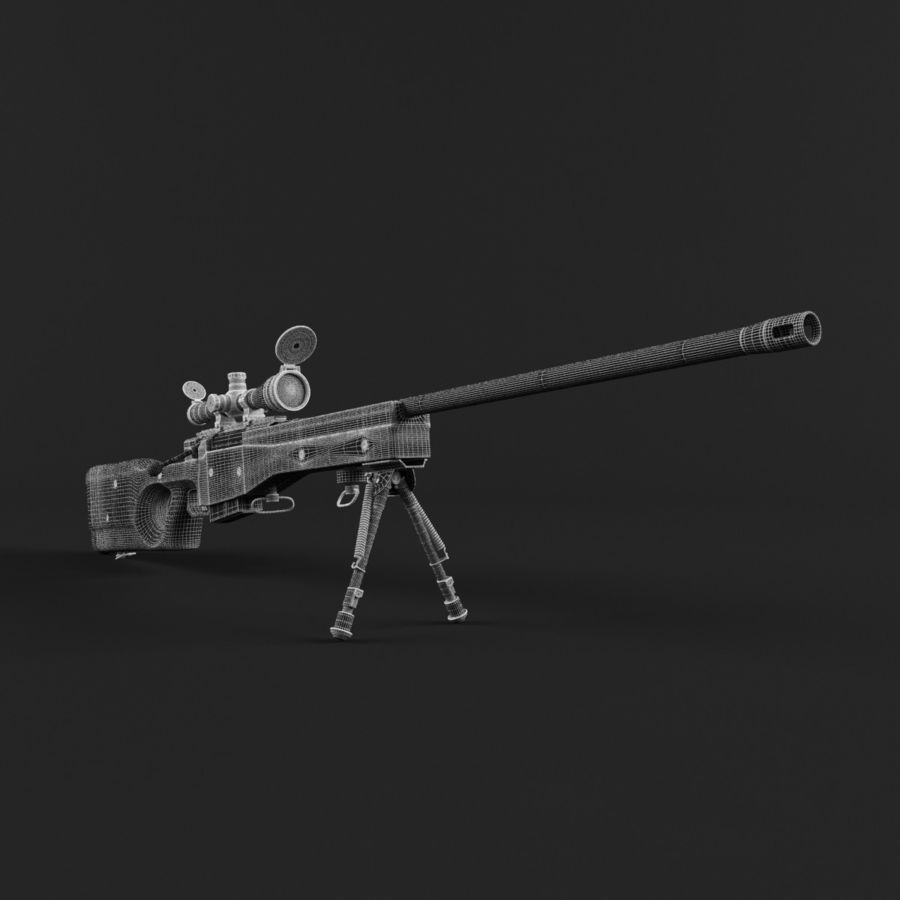 Sniper Rifle L96 British royalty-free 3d model - Preview no. 18