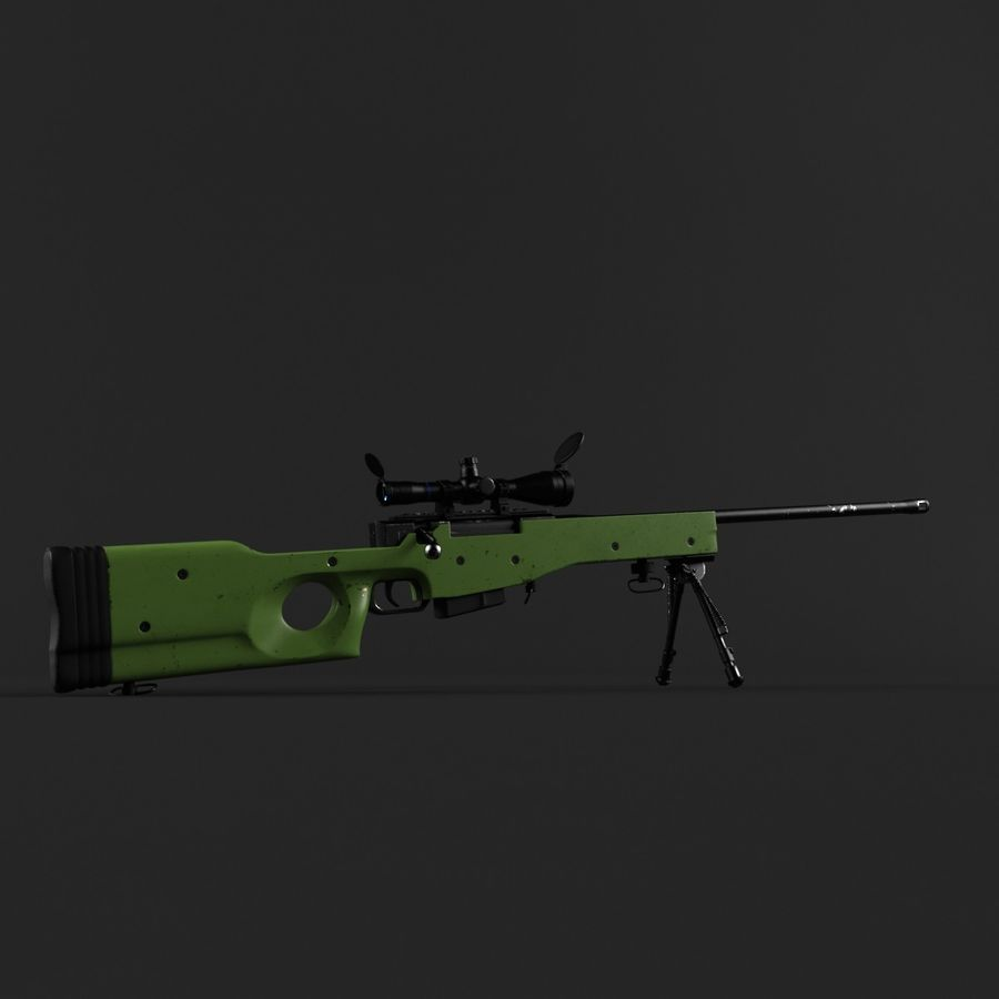 Sniper Rifle L96 British royalty-free 3d model - Preview no. 7